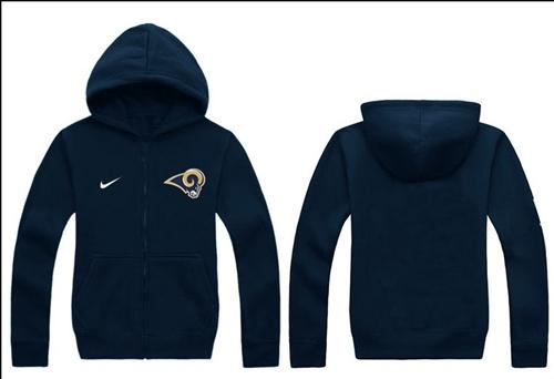 Nike St.Louis Rams Authentic Logo Hoodie Navy Blue