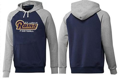 St.Louis Rams English Version Pullover Hoodie Dark Blue & Grey