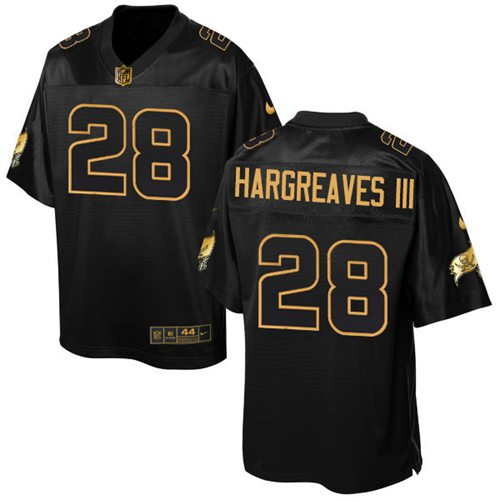 Nike Buccaneers #28 Vernon Hargreaves III Black Men's Stitched NFL Elite Pro Line Gold Collection Jersey