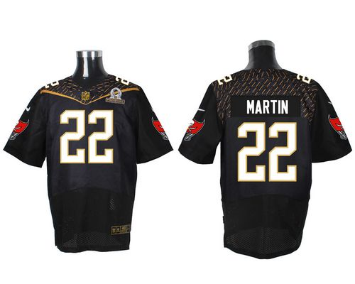 Nike Buccaneers #22 Doug Martin Black 2016 Pro Bowl Men's Stitched NFL Elite Jersey