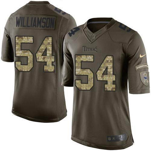 Nike Titans #54 Avery Williamson Green Men's Stitched NFL Limited Salute to Service Jersey