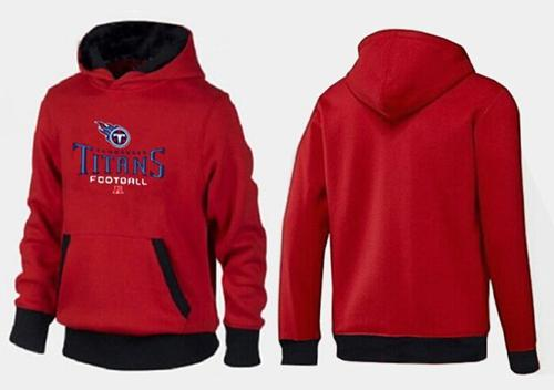 Tennessee Titans Critical Victory Pullover Hoodie Red & Black