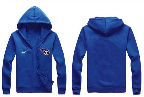 Nike Tennessee Titans Authentic Logo Hoodie Blue