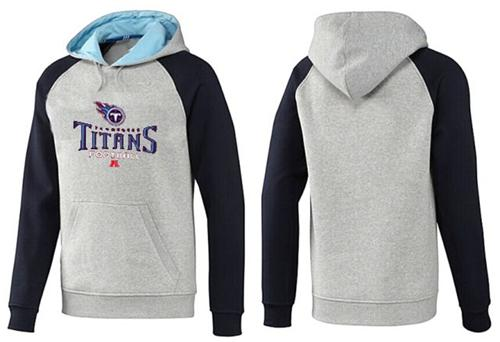 Tennessee Titans Critical Victory Pullover Hoodie Grey & Blue