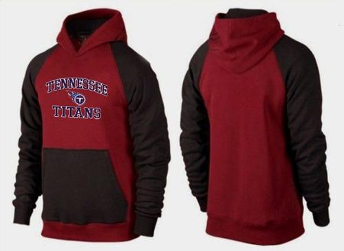 Tennessee Titans Heart & Soul Pullover Hoodie Burgundy Red & Black