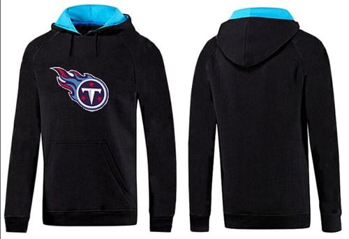 Tennessee Titans Logo Pullover Hoodie Black & Blue