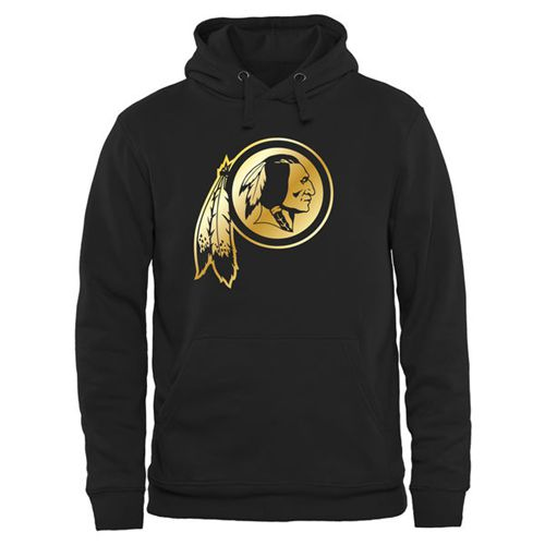 Men's Washington Redskins Pro Line Black Gold Collection Pullover Hoodie