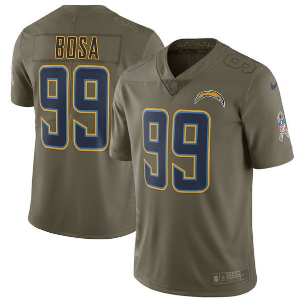 Men's Nike Los Angeles Chargers #99 Joey Bosa Olive Salute To Service Limited Stitched NFL Jersey