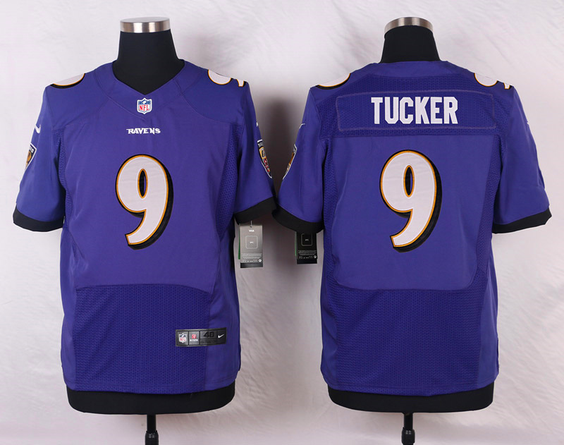 Nike Ravens #9 Justin Tucker Purple Team Color Men's Stitched NFL New Elite Jersey