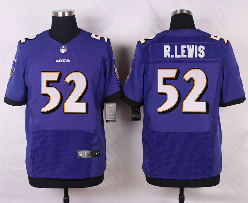 Nike Ravens #52 Ray Lewis Purple Team Color Men's Stitched NFL New Elite Jersey
