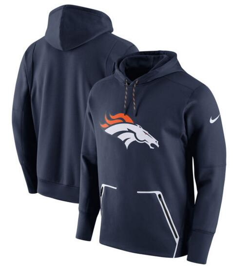 Men's Nike Denver Broncos Navy Champ Drive Vapor Speed Pullover Hoodie