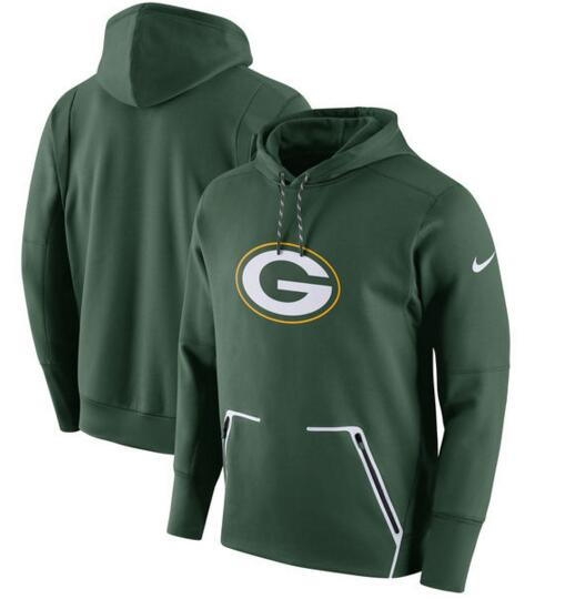 Men's Nike Green Bay Packers Green Champ Drive Vapor Speed Pullover Hoodie
