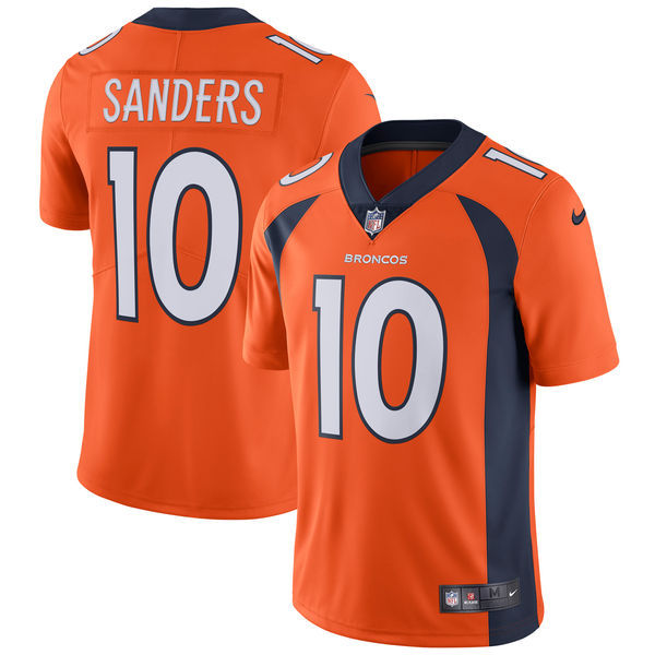 Men's Denver Broncos #10 Emmanuel Sanders Nike Orange Vapor Untouchable Limited Stitched NFL Jersey