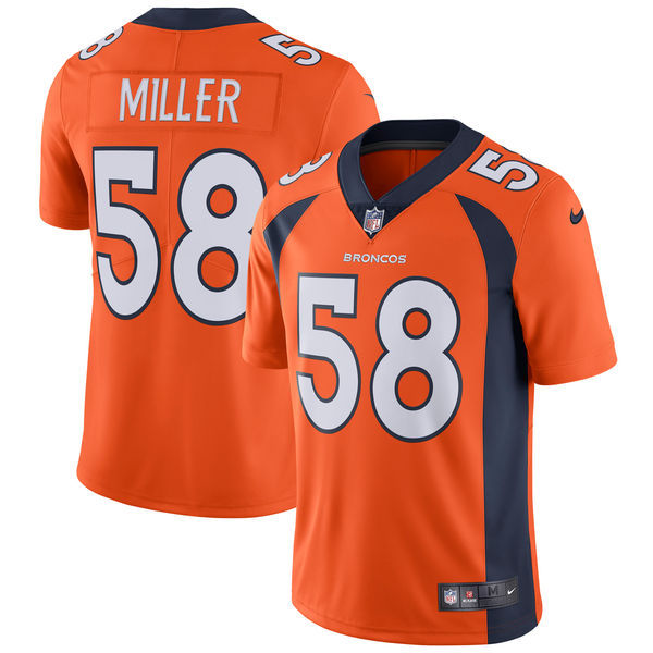 Men's Denver Broncos #58 Von Miller Nike Orange Vapor Untouchable Limited Stitched NFL Jersey