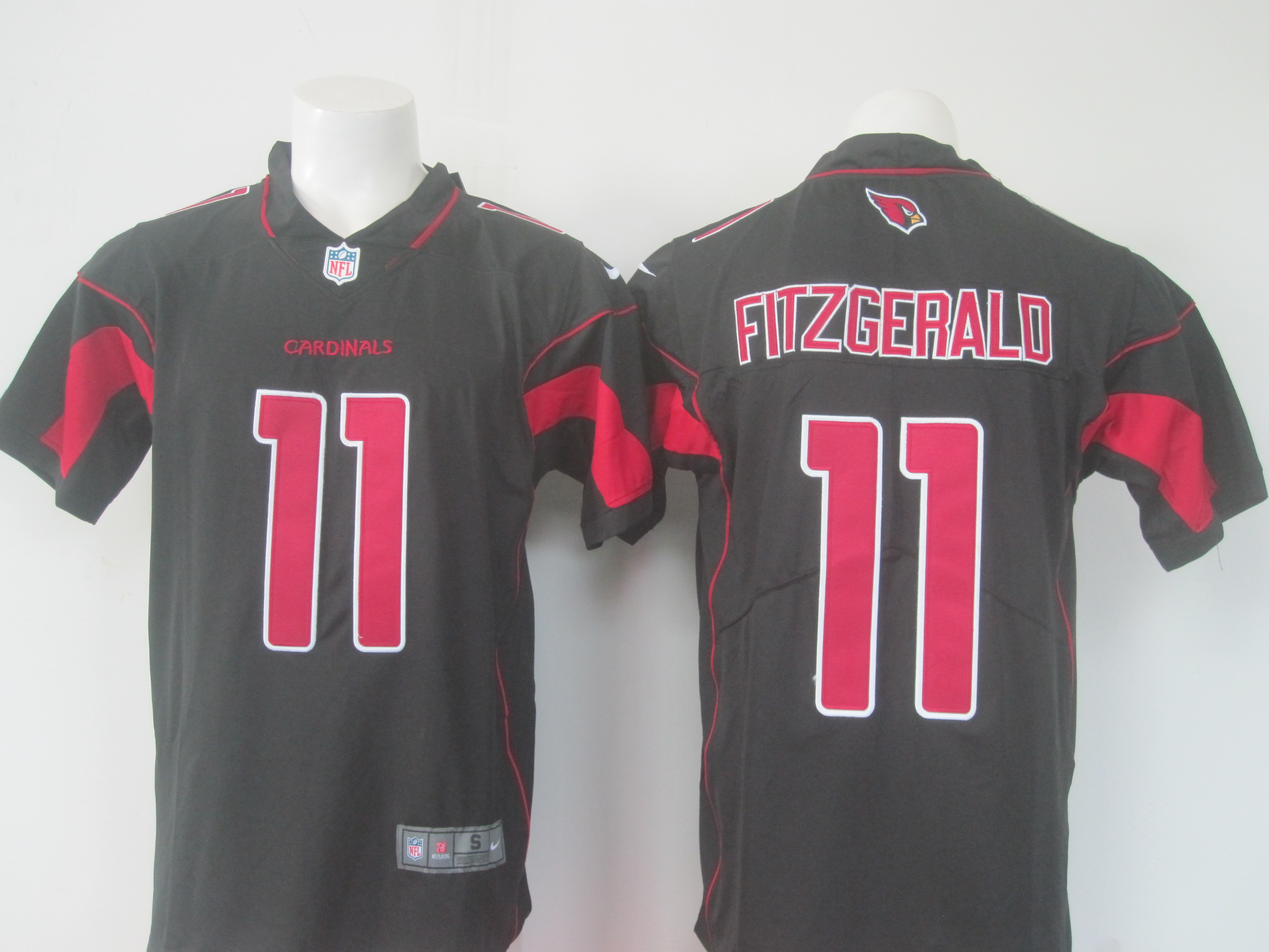 Men's Nike Arizona Cardinals #11 Larry Fitzgerald Black Limited Rush Stitched NFL Jersey