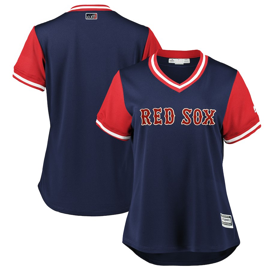 Women's Boston Red Sox Navy/Red 2018 Players' Weekend Team Jersey