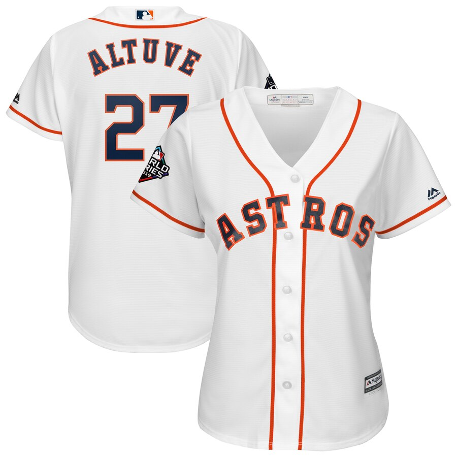 Women's Houston Astros Jose Altuve White 2019 World Series Bound Official Cool Base Player Jersey