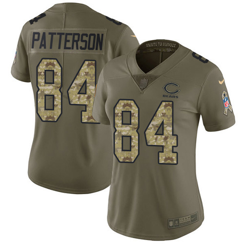 Nike Bears #84 Cordarrelle Patterson Olive/Camo Women's Stitched NFL Limited 2017 Salute To Service Jersey
