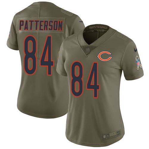 Nike Bears #84 Cordarrelle Patterson Olive Women's Stitched NFL Limited 2017 Salute To Service Jersey