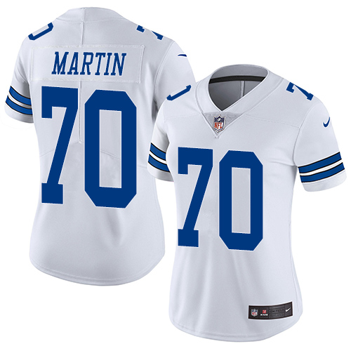 Nike Cowboys #70 Zack Martin White Women's Stitched NFL Vapor Untouchable Limited Jersey