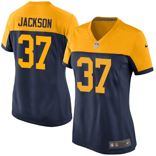 Nike Packers #37 Josh Jackson Navy Blue Alternate Women's Stitched NFL New Limited Jersey