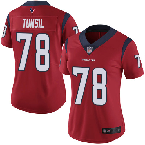 Nike Texans #78 Laremy Tunsil Red Alternate Women's Stitched NFL Vapor Untouchable Limited Jersey