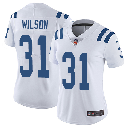 Nike Colts #31 Quincy Wilson White Women's Stitched NFL Vapor Untouchable Limited Jersey
