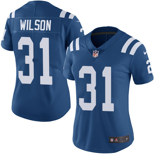 Nike Colts #31 Quincy Wilson Royal Blue Team Color Women's Stitched NFL Vapor Untouchable Limited Jersey