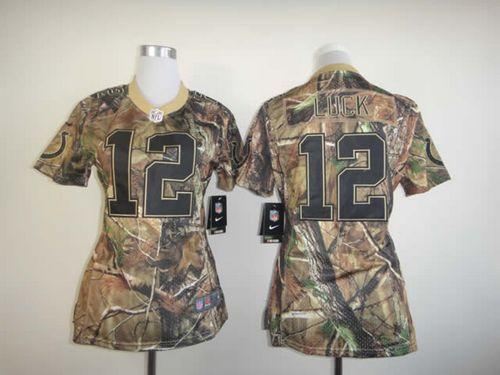 Nike Colts #12 Andrew Luck Camo Women's Stitched NFL Realtree Elite Jersey