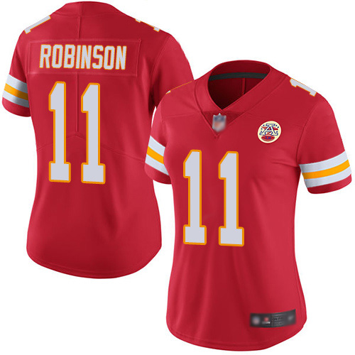 Nike Chiefs #11 Demarcus Robinson Red Team Color Women's Stitched NFL Vapor Untouchable Limited Jersey