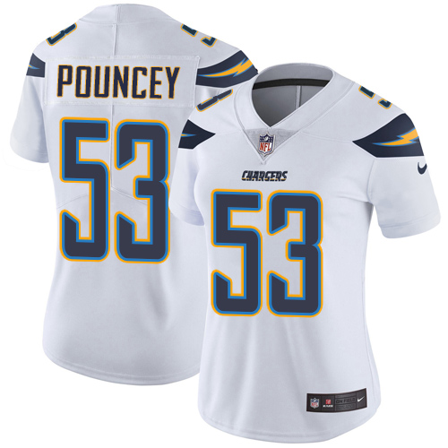 Nike Chargers #53 Mike Pouncey White Women's Stitched NFL Vapor Untouchable Limited Jersey