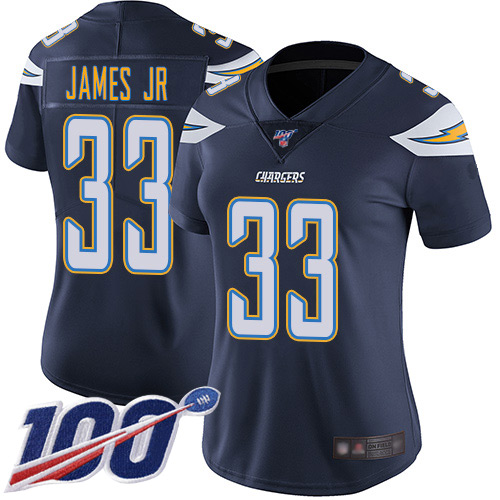 Nike Chargers #33 Derwin James Jr Navy Blue Team Color Women's Stitched NFL 100th Season Vapor Limited Jersey