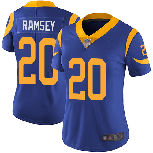 Nike Rams #20 Jalen Ramsey Royal Blue Alternate Women's Stitched NFL Vapor Untouchable Limited Jersey