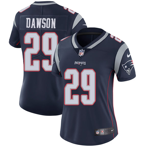 Nike Patriots #29 Duke Dawson Navy Blue Team Color Women's Stitched NFL Vapor Untouchable Limited Jersey