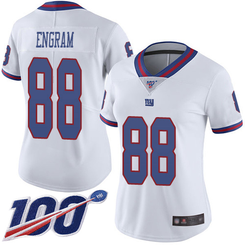 Nike Giants #88 Evan Engram White Women's Stitched NFL Limited Rush 100th Season Jersey