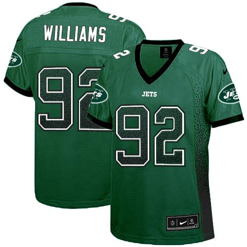 Nike Jets #92 Leonard Williams Green Team Color Women's Stitched NFL Elite Drift Fashion Jersey