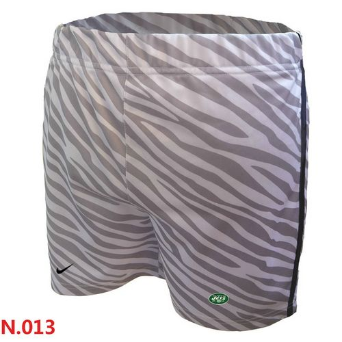 Women's Nike NFL New York Jets Embroidered Team Logo Zebra Stripes Shorts