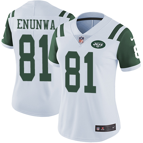 Nike Jets #81 Quincy Enunwa White Women's Stitched NFL Vapor Untouchable Limited Jersey