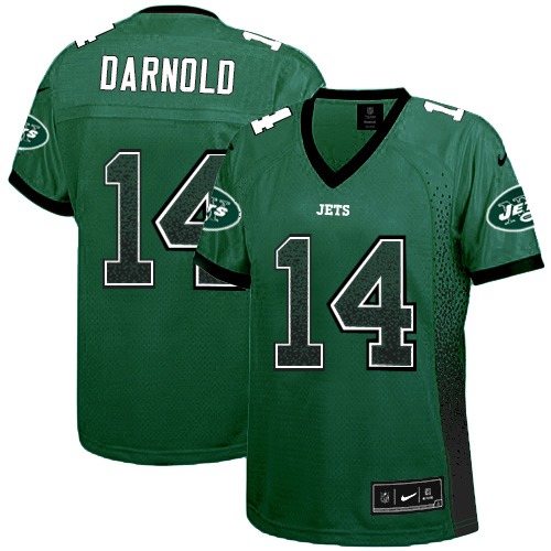 Nike Jets #14 Sam Darnold Green Team Color Women's Stitched NFL Elite Drift Fashion Jersey