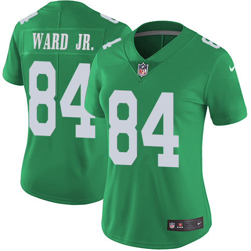 Nike Eagles #84 Greg Ward Jr. Green Women's Stitched NFL Limited Rush Jersey