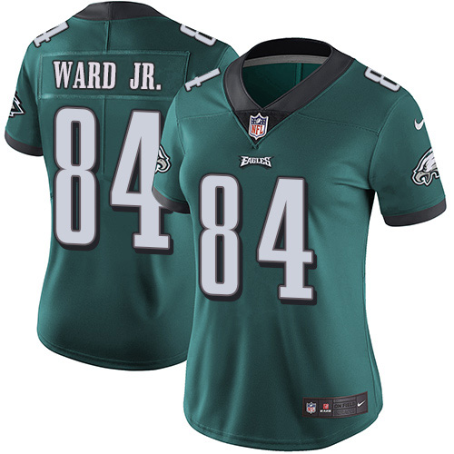 Nike Eagles #84 Greg Ward Jr. Green Team Color Women's Stitched NFL Vapor Untouchable Limited Jersey