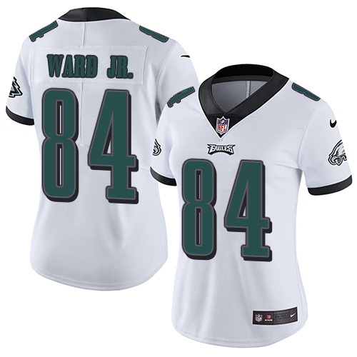 Nike Eagles #84 Greg Ward Jr. White Women's Stitched NFL Vapor Untouchable Limited Jersey