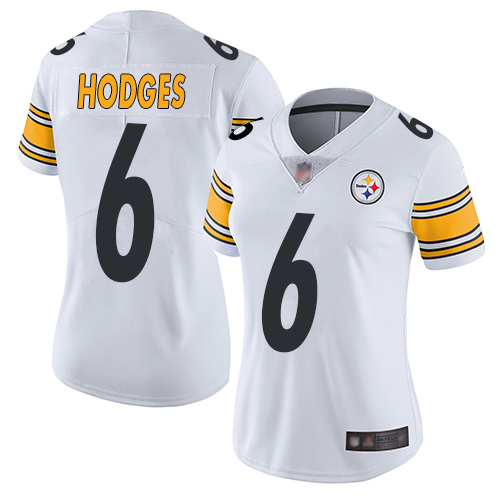 Nike Steelers #6 Devlin Hodges White Women's Stitched NFL Vapor Untouchable Limited Jersey