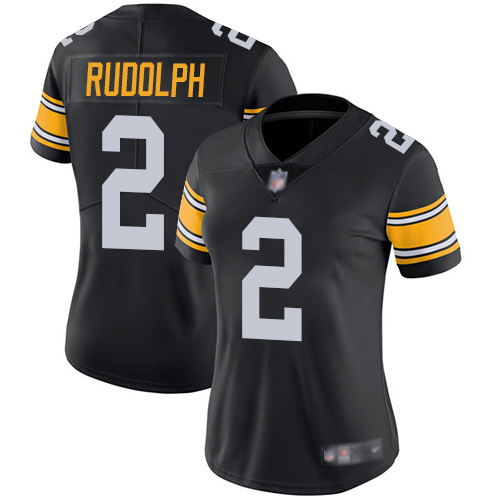 Nike Steelers #2 Mason Rudolph Black Alternate Women's Stitched NFL Vapor Untouchable Limited Jersey