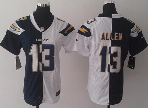 Nike Chargers #13 Keenan Allen Navy Blue/White Women's Stitched NFL Elite Split Jersey