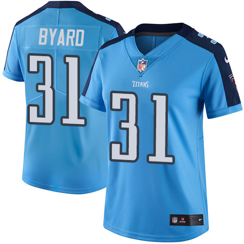 Nike Titans #31 Kevin Byard Light Blue Women's Stitched NFL Limited Rush Jersey