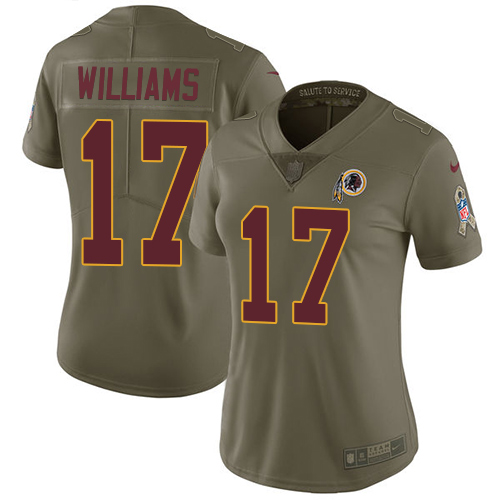 Nike Redskins #17 Doug Williams Olive Women's Stitched NFL Limited 2017 Salute to Service Jersey