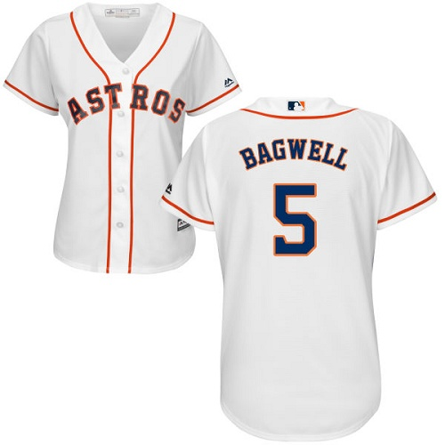 Astros #5 Jeff Bagwell White Home Women's Stitched MLB Jersey
