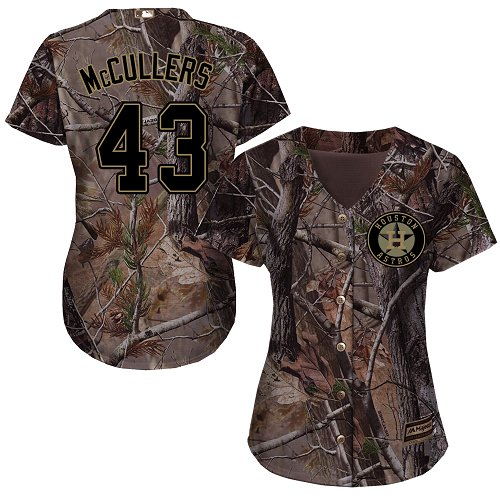 Astros #43 Lance McCullers Camo Realtree Collection Cool Base Women's Stitched MLB Jersey