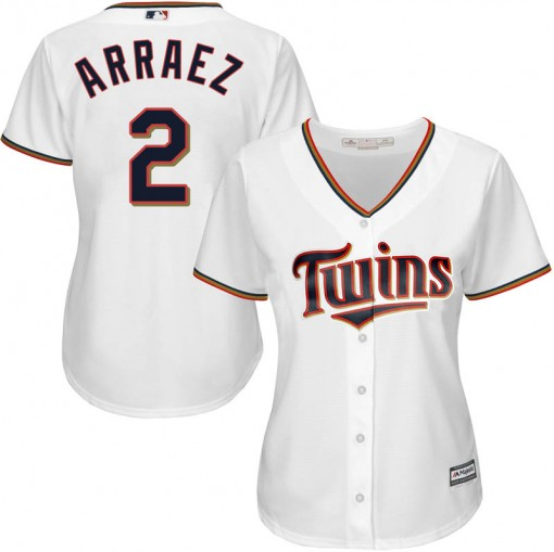 Twins #2 Luis Arraez White Home Women's Stitched MLB Jersey